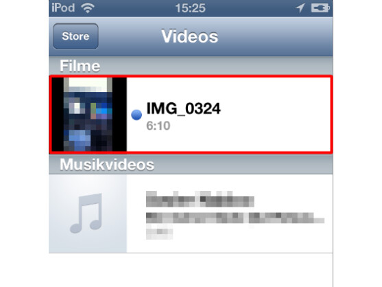 Video auf iPhone, iPad oder iPod starten
