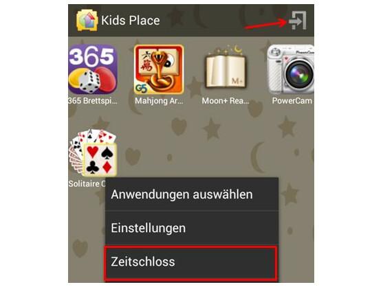Kids Place beenden