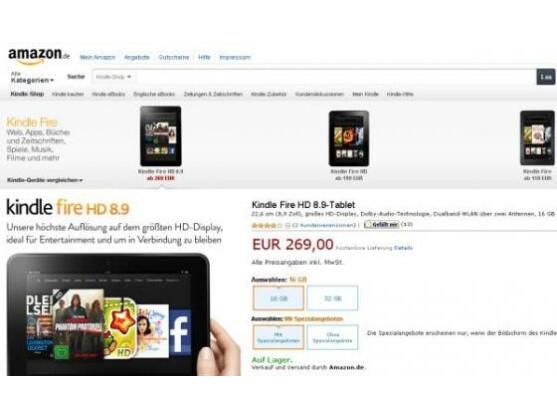 Kindle Fire HD: Das bisher größte Amazon-Tablet gibt es jetzt auch in Deutschland.