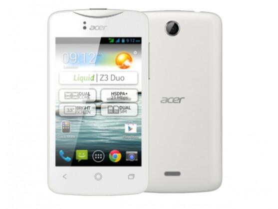 Das Liquid Z3 wird es auch als Dual-SIM-Variante geben.