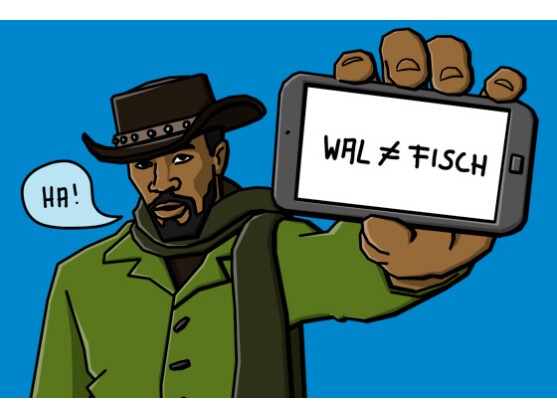 Locker aus der Hüfte, wie Jamie Foxx im Film Django Unchained.