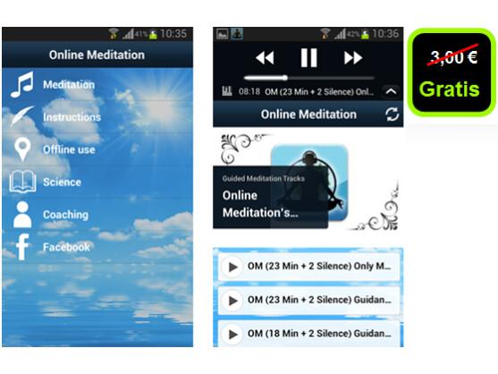 android app online meditation android netzwelt. Black Bedroom Furniture Sets. Home Design Ideas