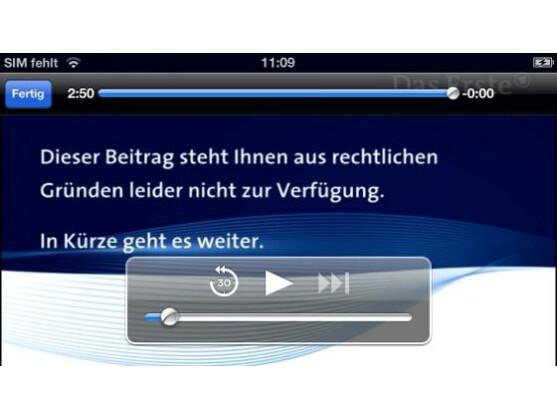 Bei der mobilen Version ist leider nicht das komplette Programm zu sehen.