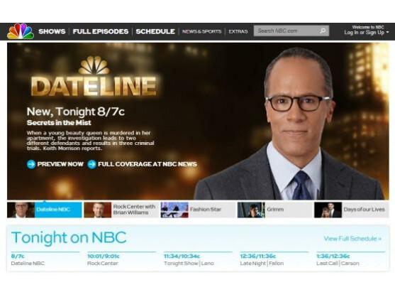 NBC.com war vorübergehend infiziert.