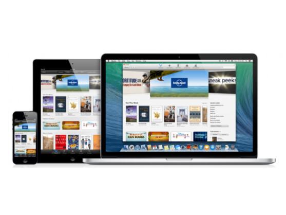 Die neue iBook-Apps unter Mavericks erlaubt das Fortsetzen mit dem Lesen auf dem Desktop, von zuvor auf dem iPhone begonnener Lektüre.