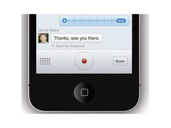 Nutzer versenden mit der Messenger-App nun auch Sprachaufnahmen.