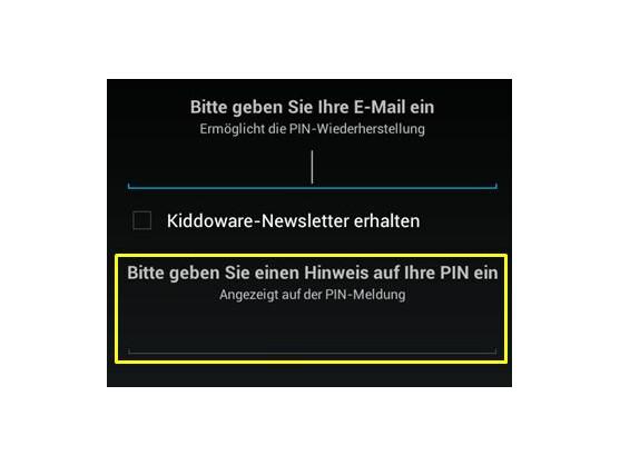 PIN-Wiederherstellung per E-Mail