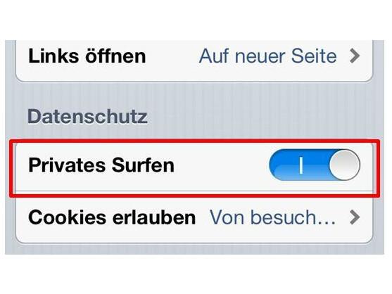 Privates Surfen