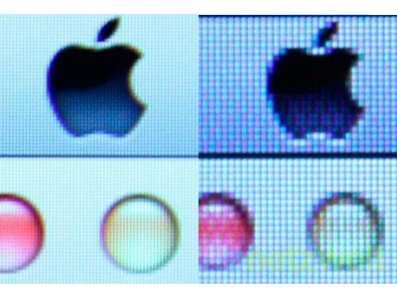 Der Retina-Effekt beim Apple MacBook: Einzelne Pixel sind mit dem Auge kaum mehr zu erkennen.