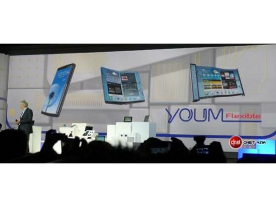 Samsung hat auf der CES neue flexible Displays für Smartphones vorgestellt.