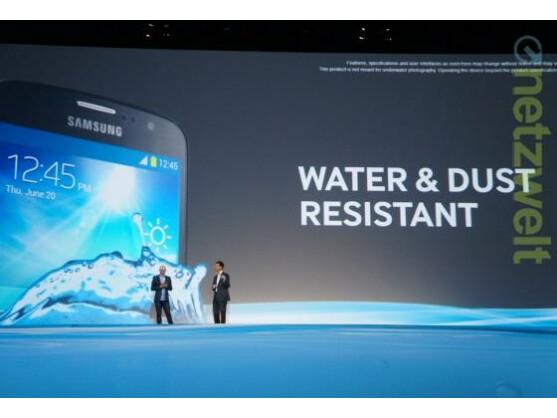 Samsung stellte in London mit dem S4 Active eine robuste Galaxy S4-Variante vor.