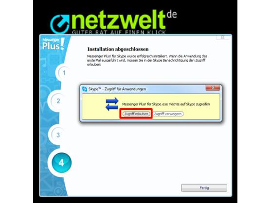 Zugriff der Software auf Skype erlauben.