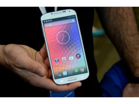 So sieht die Google-Edition des Samsung Galaxy S4 aus.