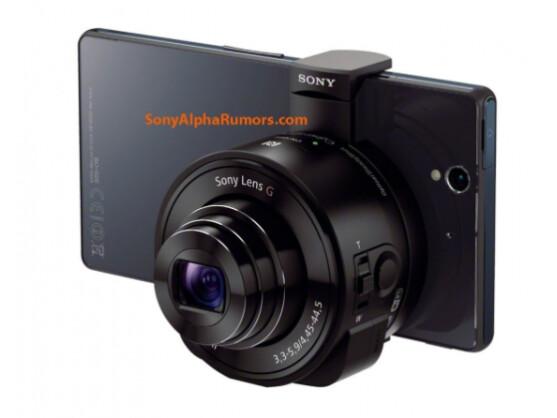 Sony Objektiv-Kamera: Bei dieser Ausführung soll es sich um den DSC-QX10 Kameraaufsatz handeln.