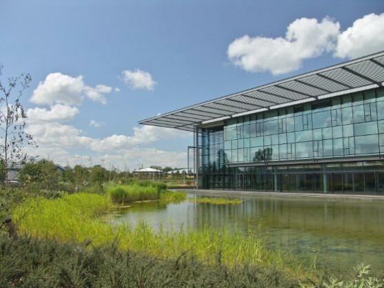 Das Sophos-Hauptquartier in Abingdon (Oxfordshire) an einem sonnigen Tag.