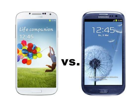 Treffen der Generationen: Das Galaxy S4 im Vergleich mit dem Vorgänger Galaxy S3.