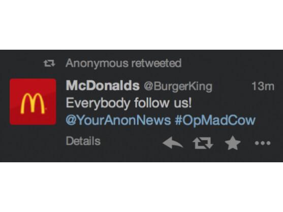 In einem Tweet rufen die Hacker dazu auf, einem bestimmten Account zu folgen.