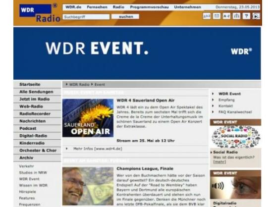 Wdr Event Live Stream