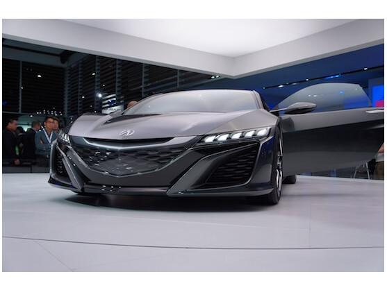 Nicht wirklich grün, dafür extrem sportlich: Honda NSX Concept auf der NAIAS