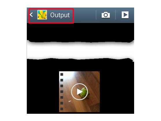 Zugeschnittene Videos finden Sie im Output-Ordner.