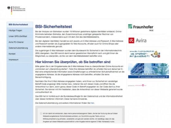 BSI-Test: Nutzer können prüfen, ob ihre E-Mail-Daten gestohlen worden sind.