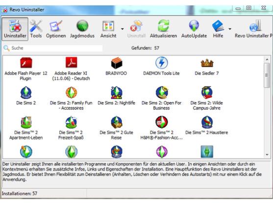 software deinstallieren