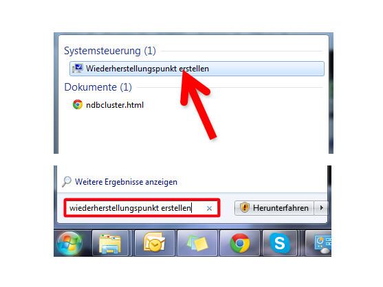 Systemeigenschaften von Windows aufrufen.