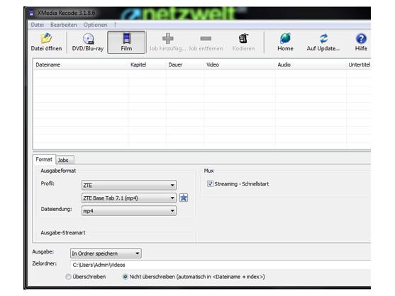 Mit XMedia Recode wandeln Sie nicht nur Videos in andere Formate um. Auch als Bearbeitungssoftware können Sie das Programm nutzen.