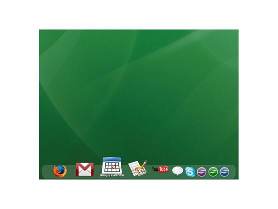 Dock mit Google-Diensten