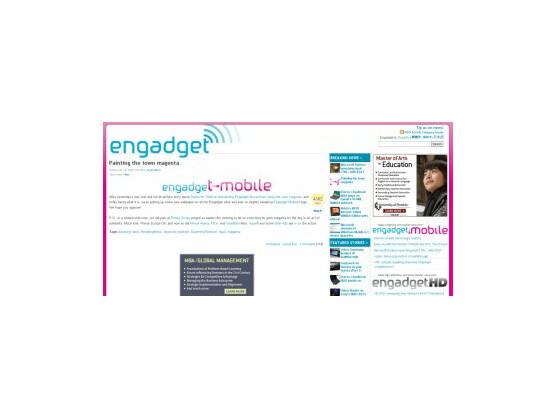 Screenshot von engadgetmobile.com