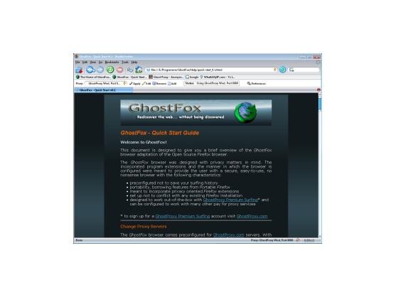Anonymer Browser: GhostFox