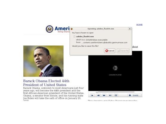 Spam-Versender locken mit angeblichen Obama-Videos.