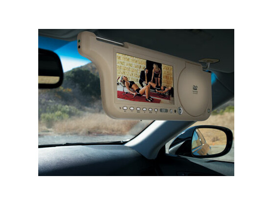 Spaß für Kinder und Beifahrer: Diese Multimedia-Sonnenblende bietet großes Entertainment für den kleinen Geldbeutel.