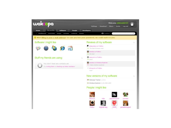Wakoopa: Software-Update im Web 2.0.