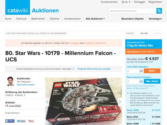 star wars set von lego millennium falcon wird wieder. Black Bedroom Furniture Sets. Home Design Ideas