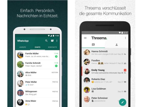 WhatsApp versus Threema: Messenger im Vergleich - NETZWELT