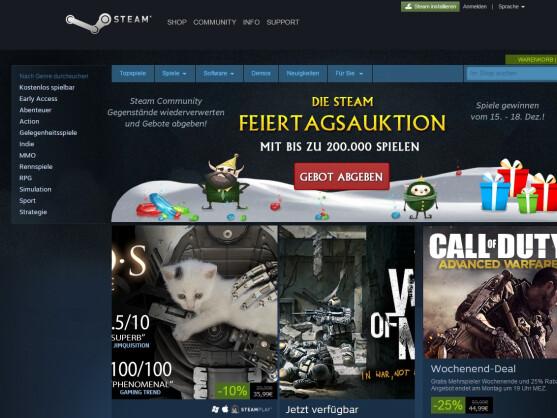 Steam bietet eine vielfältige Auswahl an Spielen.