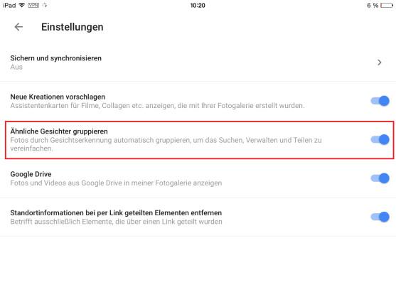 Google Fotos Gesichtserkennung Deutschland