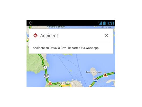 Waze-Verkehrsinformationen werden jetzt in den iOS- und Android-Apps von Google Maps angezeigt.