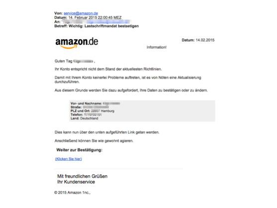 Netzwelt, Amazon Fake Email