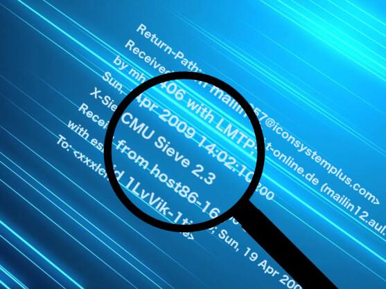 Mail-Absender lassen sich per Quellcode ermitteln.