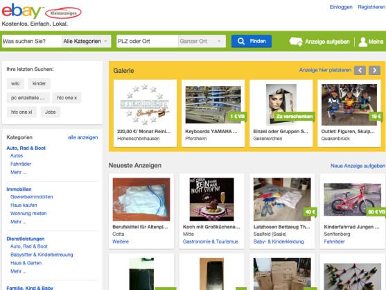 ebay kleinanzeigen registrieren und anmelden so geht 39 s. Black Bedroom Furniture Sets. Home Design Ideas