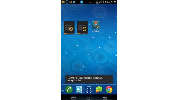 schwarze liste app