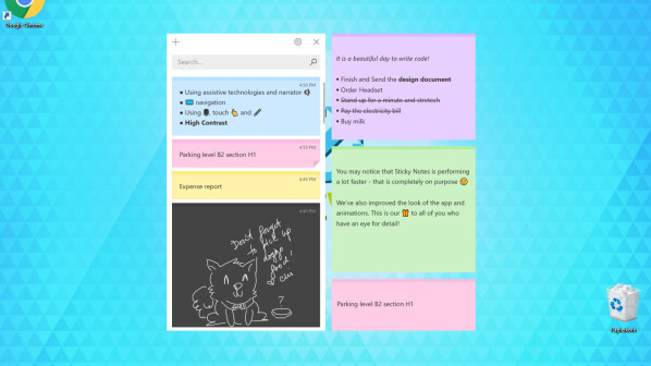how to add pictures to sticky notes windows 10