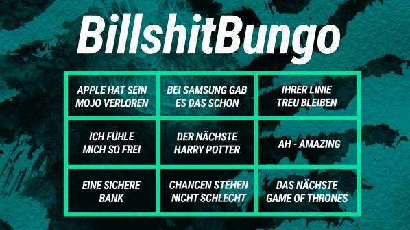 Newsletter: Kommt, wir spielen Billshit-Bungo
