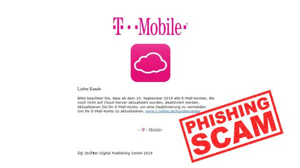 Telekom-Phishing im Umlauf: Keine Angst vor Kontosperrung