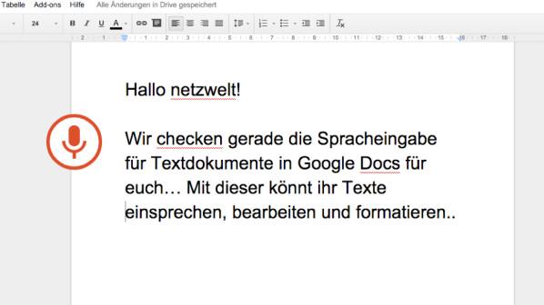 Google Docs Spracheingabe Für Texte Verfügbar So Gehts Netzwelt