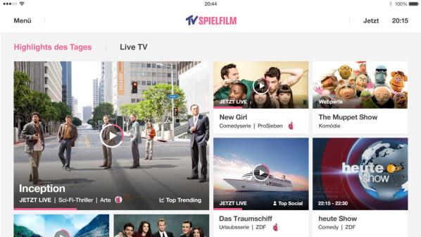 internet tv tv spielfilm bringt fernsehprogramm auf pc. Black Bedroom Furniture Sets. Home Design Ideas