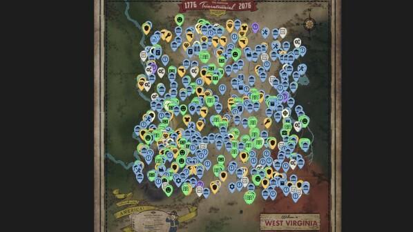 Fallout 76 Karte Deutsch.Fallout 76 Interaktive Map Zeigt Euch Die Fundorte