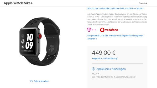 apple watch series 3 mit lte neben telekom bietet auch. Black Bedroom Furniture Sets. Home Design Ideas